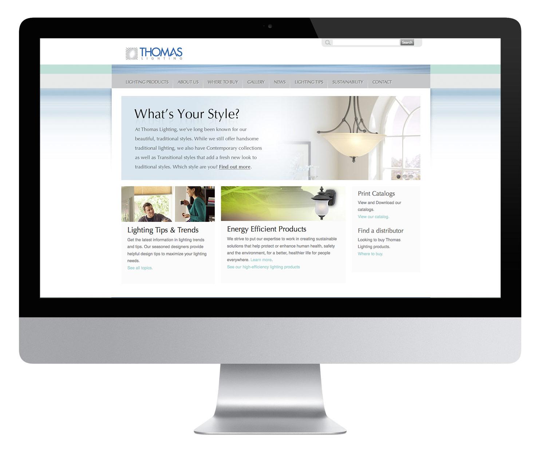Thomas Lighting Website