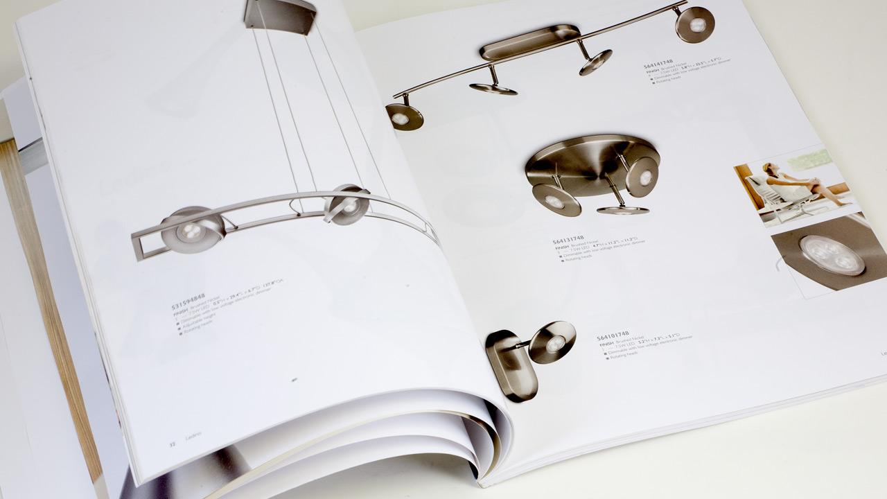 Philips lighting catalog spread