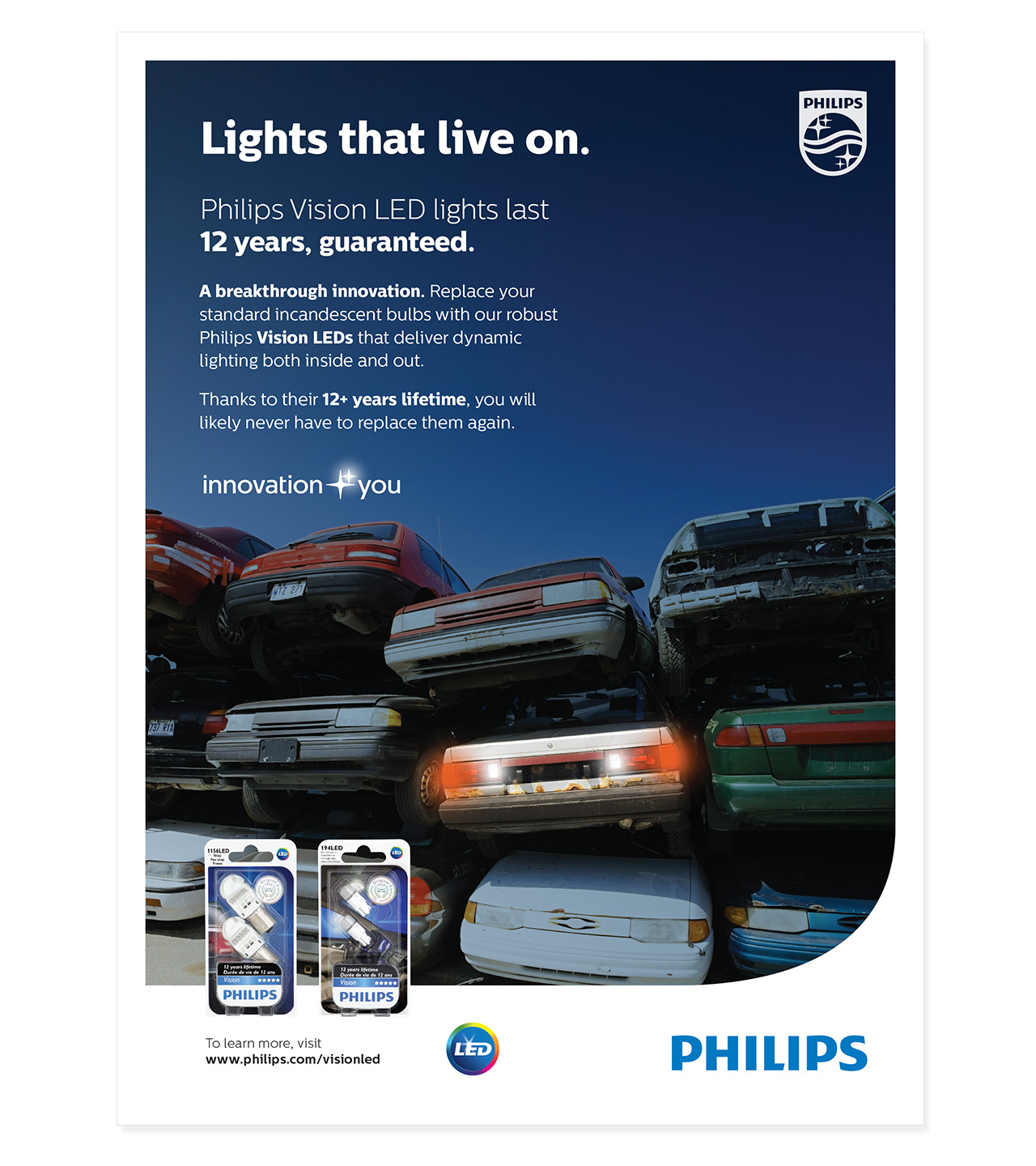 """Philips """"Lights That Live On"""" Campaign   Barolin   Spencer for Philips Led Lights Ad  181pct"""