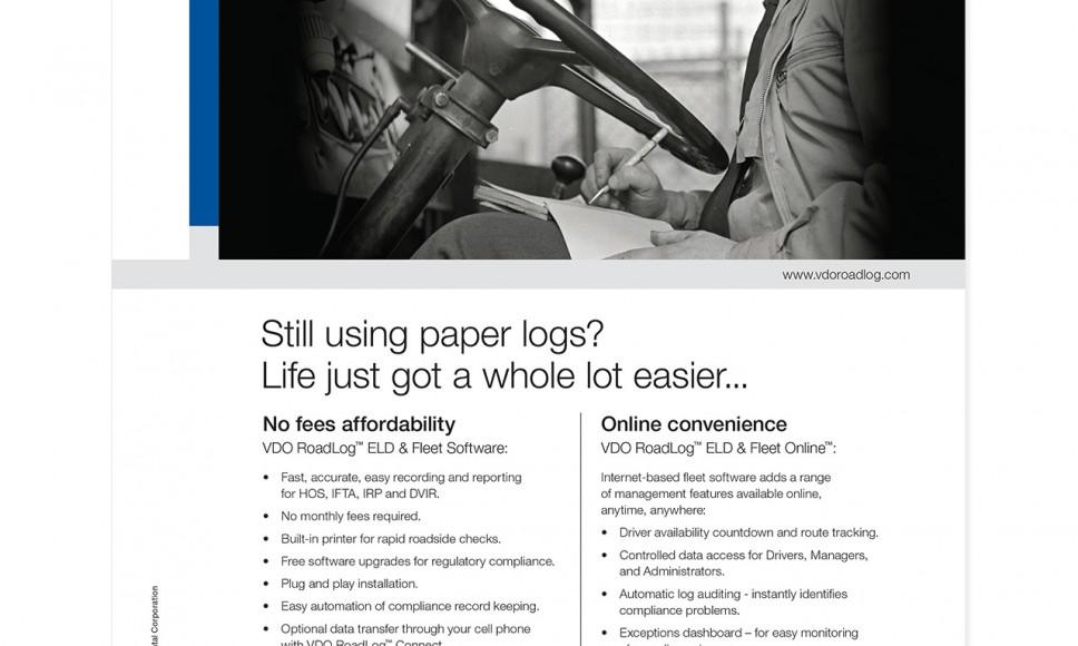 RoadLog vintage driver ad